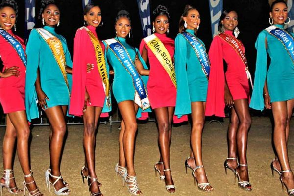 Image of 2019 Carnival Queen Contestants at this year's Opening of Carnival. (Photo: Stan Bishop)