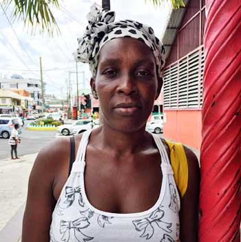 Image of Carlin Felix, who believes that some vendors were forgotten in the move.