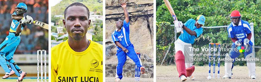 Image: (L-R) Expect a few towering sixes from Daren Sammy at the GICA celebrity match up tomorrow evening; SLNCA 50 Overs Tournament - Jamal James, Alvin Prospere and Lee Solomon will be on show this weekend. (CPL/Anthony De Beauville)