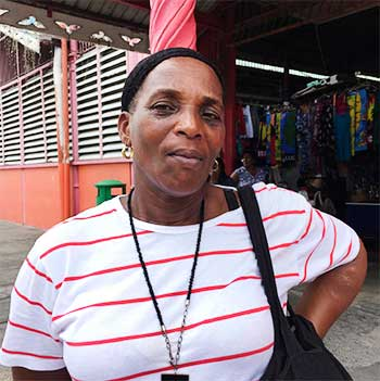 Image of Disgruntled provisions vendor, Rita Pierre also known as Geraldine.