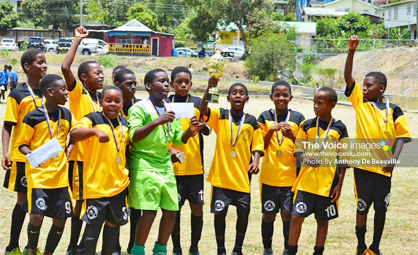 Image: SLFA Northern Zone Under-11 champions Northern United FC celebrate. (PHOTO: Anthony De Beauville)