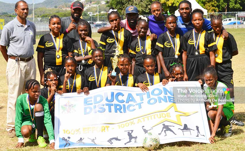 Image: Second place team District 1 and Education Officer for District 1, Cyrus Cepal. (PHOTO: Anthony De Beauville)