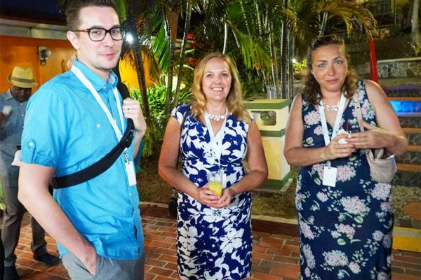 Image: Visiting Canadian media attending the Saint Lucia Jazz Media Mixer