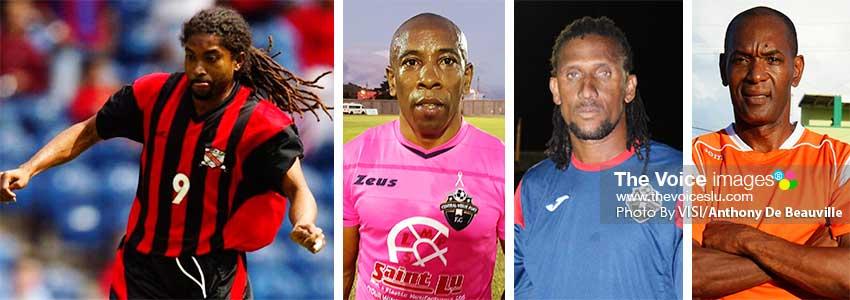 Image: (L-R) Arnold Dwarika (Trinidad and Tobago), Earl Jean, Titus Elva and Trevor Cadet (Saint Lucia). (PHOTO: VISI/Anthony De Beauville)
