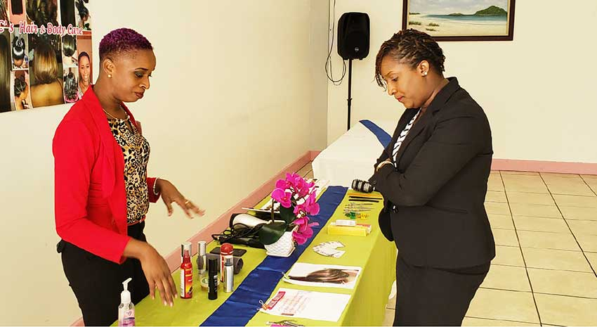 Image: C's Hair & Body Care's display at the Exhibition.