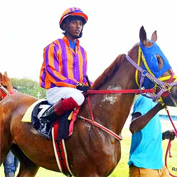 """Image of Eric """"Rico"""" Daniel on race day in Barbados."""