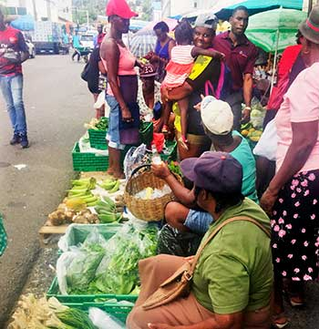 Image of Jeremie Street provisions vendors, days before eviction.