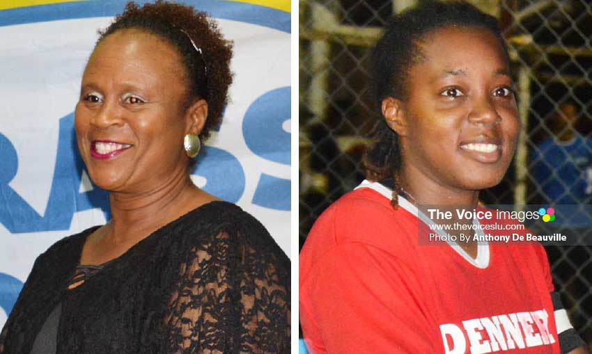 Image: (L-R) Liz Mary Campbell (Manager); Elliasia Marquis (captain) takes charge of Team Saint Lucia. (PHOTO: Anthony De Beauville)