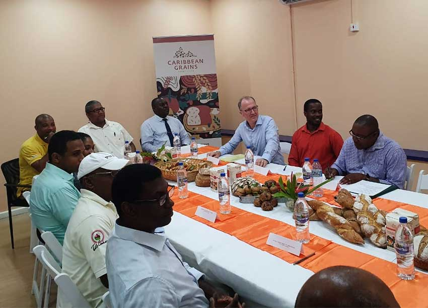 Image: Minister Felix at a roundtable discussion with key stakeholders in the baking industry