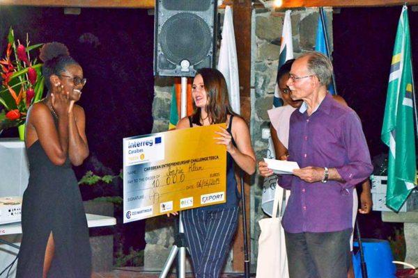 Image of the winner of the Caribbean Entrepreneur Challenge, Sophie Klein.