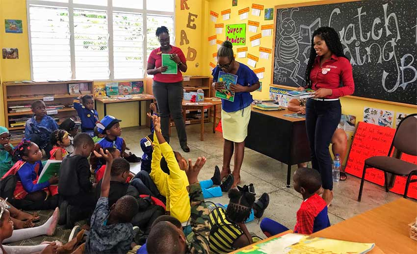 Image: Students were enthusiastic about the venture by Chief Tree and CIBC to promote healthy nutrition for holistic development.
