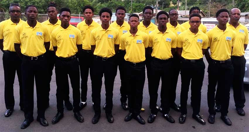 Image: Team Saint Lucia just before departure for Dominica on Friday. (PHOTO: Team SLU)