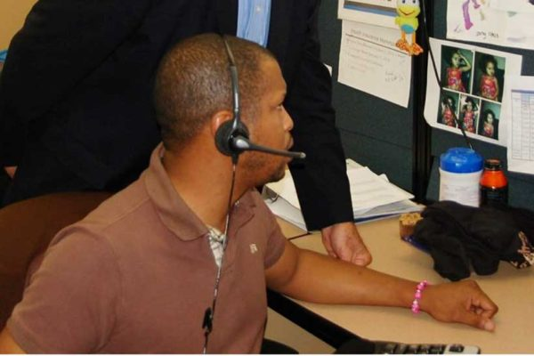 Image of a call centre employee