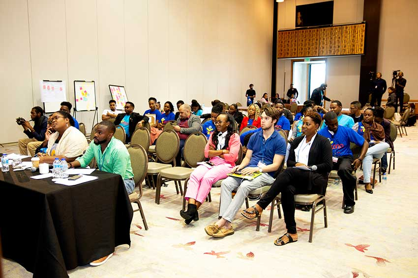 Image of the final day of the CDB's Vybzing forum.