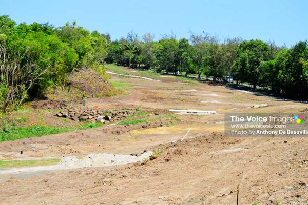 Image: A section of the course under construction. PHOTO: Anthony De Beauville)