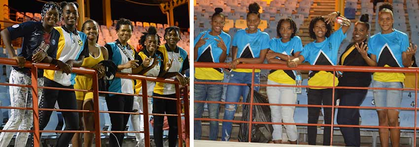 Image: A section of the crowd in support of Team Saint Lucia.