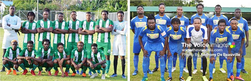 Image: (L-R) Big weekend clash at the Marchand Playing Field, Vieux Fort South and Gros Islet. (PHOTO: Anthony De Beauville)