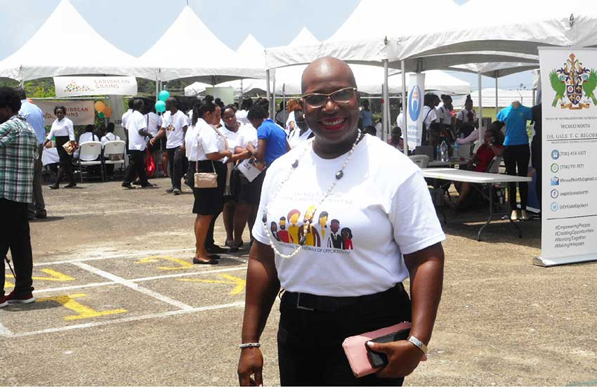 Image of Parliamentary Representative of Micoud North and Minister of Education, Dr. Gale Rigobert. [PHOTO BY: KINGSLEY EMMANUEL]