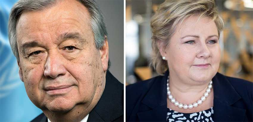 Image: Prime Minister of Norway Erna Solberg and Secretary-General of the United Nations António Guterres are special guests for this year's CARICOM Heads of Government Meeting.