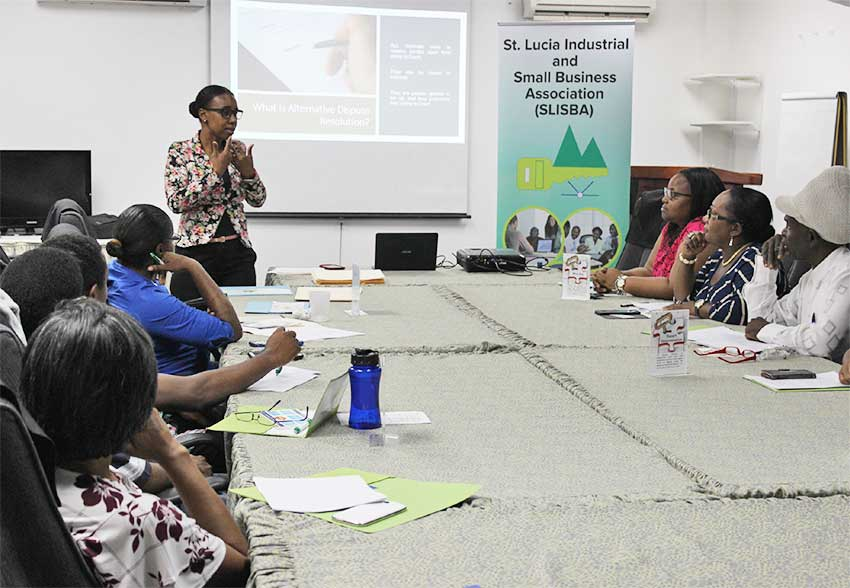 Image of Facilitator Edwin addressing the workshop's attendees.