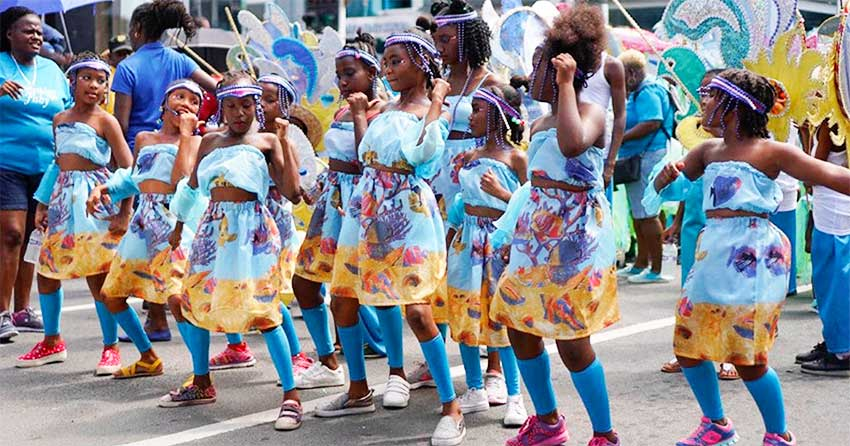 Image of Gros Islet Junior Carnival band.
