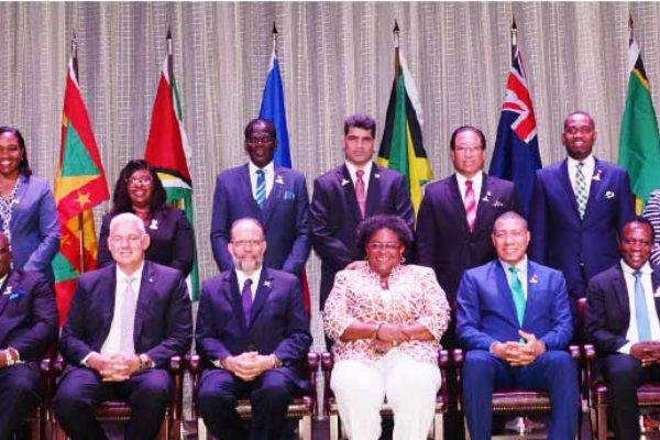 Image: Heads of Government at the Opening Ceremony of the 40th Regular Meeting of CARICOM in Saint Lucia.