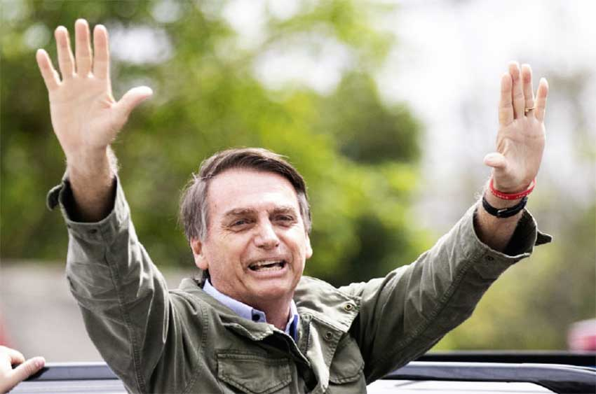 A file photo of Brazilian President Jair Bolsonaro.