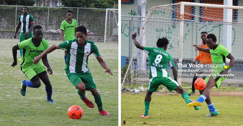 Image: Some of the action between Mon Repos and Vieux Fort South .(PHOTO: Anthony De Beauville)