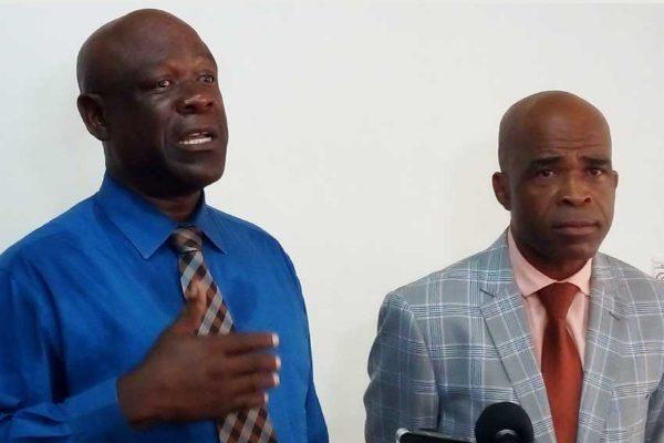 Image of Pastor Eugene (L) and Bishop Eristhee