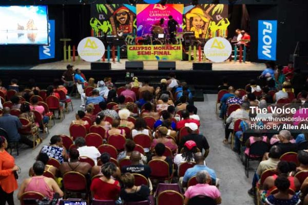 Image of patrons at the Calypso Semi-Finals at the National Cultural Center on June 30th. [photo: ALLEN ALEXANDER]