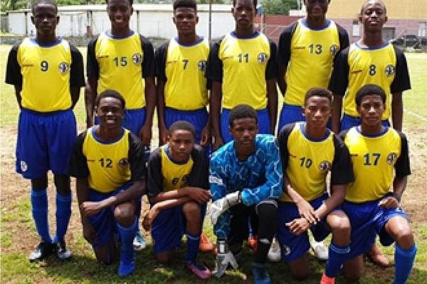Image: Saint Lucia's National U15 football players at the Marchand Grounds. (Photo: SLFA)
