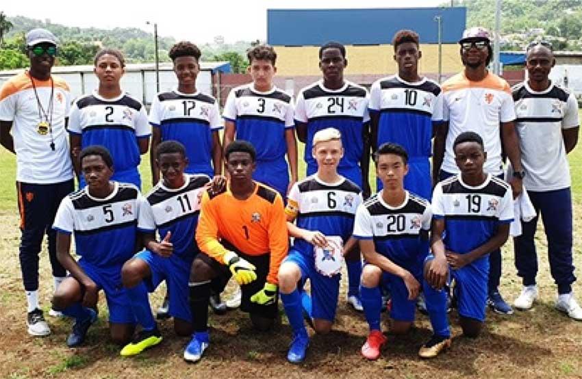 I(mage: Saint Marteen's U15 team at the Marchand Grounds.(Photo: SLFA)