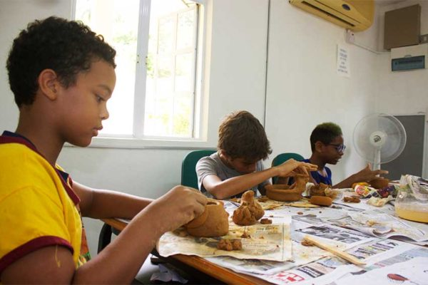 Image: Students during last year's Summer Art Programme.