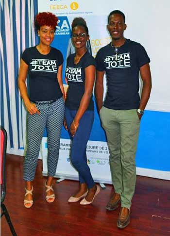 Image: Team Joie received a well-deserved €10,000 in startup capital as part of the TEECA challenge which got  underway in Martinique last month.
