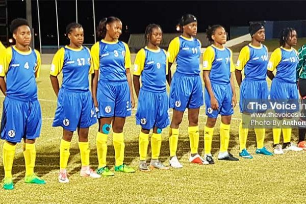 Image: Team Saint Lucia set to play Saint Vincent and the Grenadines at 8.00 p.m. (PHOTO: Anthony De Beauville)