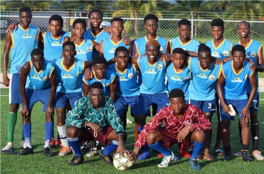Image: Team Saint Lucia for CONCACAF Under 15 tournament in Florida, USA. (PHOTO: TF)