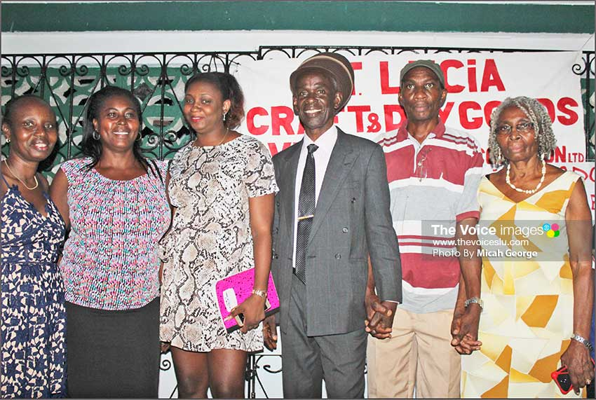 Image: The new Executive of The Saint Lucia Craft and Dry Goods Venders Association.