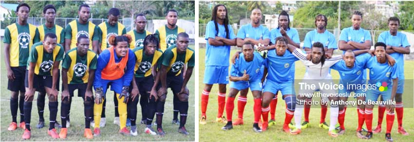 Image: (L-R) Home team Babonneau set to play La Clery; Group A leaders, Canaries takes on Laborie. (Photo: Anthony De Beauville)