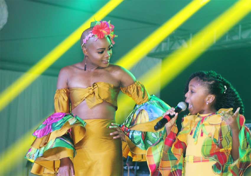 Image of Curmiah Lisette and 8-year-old Thandi Wilson mesmerized the audience.