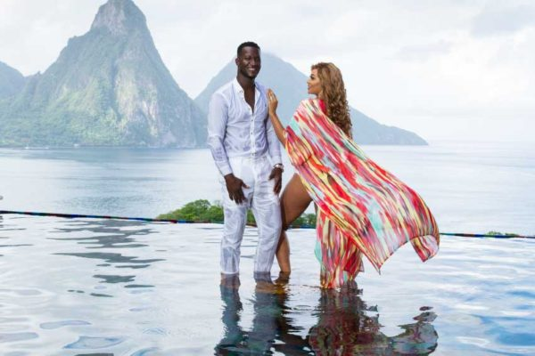Image of Cricketer Daren Sammy and wife Cathy Sammy.