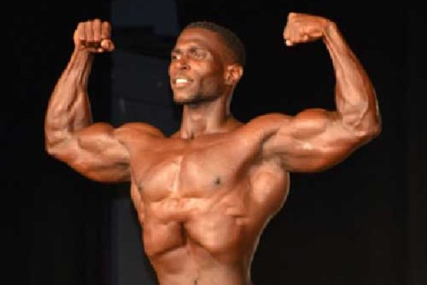 Image of National Bodybuilding Champion 2019, Joneil Pelage. (Photo: Anthony De Beauville)