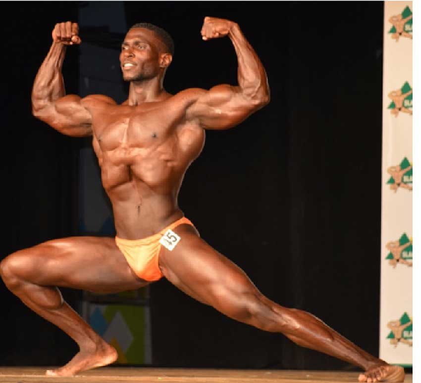 Image of National Bodybuilding Champion 2019, Joneil Pelage. (Photo: Anthony De Beauville)