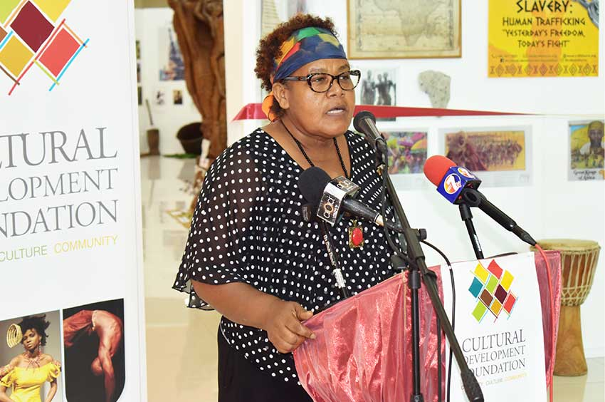 Image of Margot Thomas, National Archivist and CEO of the National Archives Authority of Saint Lucia.