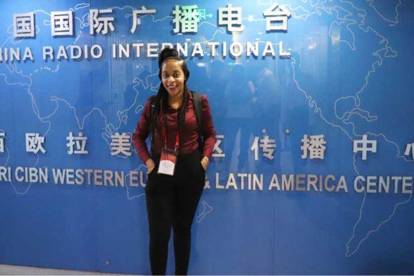 Image of Freelance/copywriter Mindy-Luquiana Chicot at China Radio International.