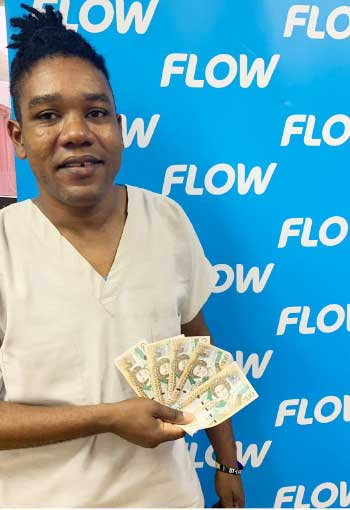 Image of one of FLOW's lucky winners.