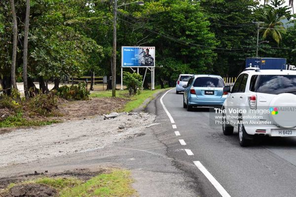 Image: Part of the road which will be widened as part of the just commenced government project. [PHOTO: Allen Alexander]