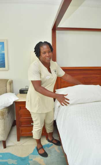 "Image: Pranciana ""Princy"" Regis, the Diamond Team Member for the month of July from Sandals Grande Saint Lucian Spa & Beach Resort."