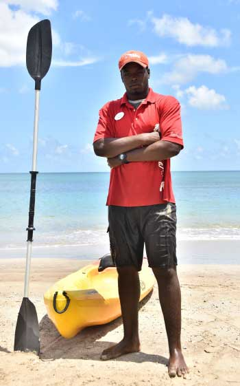 Image of Ridley Alexander, Watersports Attendant at Sandals Halcyon Beach Resort.