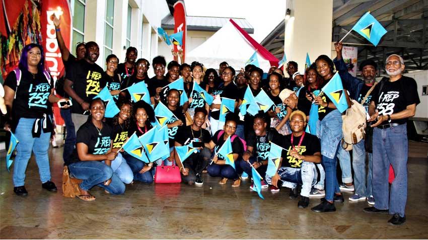 Image: Saint Lucia's delegation for CARIFESTA XIV. [Photo: Stan Bishop]
