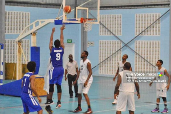 Image: Some of the action in last weekend's match between VBCC Warlords and Dennery Dolphins at the IPF. (Photo: Anthony De Beauville)